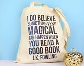 Quote Tote Bag. Book Bag. Literary Gifts. Literary Quotes. Book Gifts