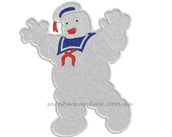 Ghostbusters Stay Puft Embroidery Design