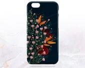 iPhone 7 Case Navy Floral iPhone 7 Plus Case iPhone 6s Case iPhone SE Case iPhone 6 Case iPhone 5S Case Galaxy S7 Case Galaxy S6 Case C18