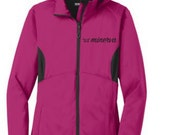NEW Women's Running Jacket - Minerva Cursive Logo