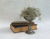 RESERVED FOR LINDA: Vintage Pewter Dolphin Dish Stand Tray