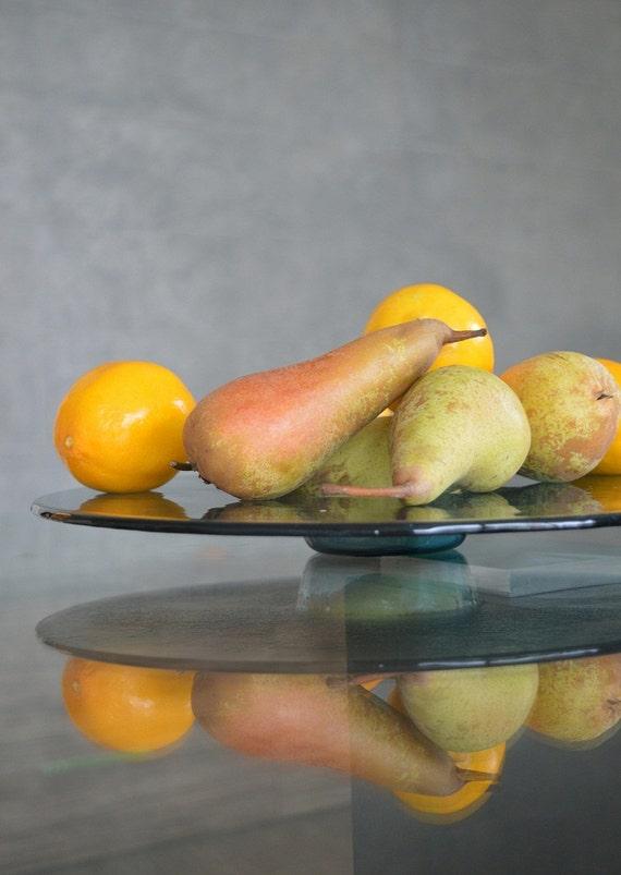 Modern Minimalist Fused Glass Fruit Bowl Centerpiece