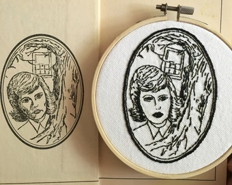 Nancy Drew Embroidery, Vintage Book Illustration Embroidery, Nancy Drew Art, Book Embroidery, Book Art, Literary Artwork, Carolyn Keene