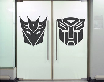 Transformers Wall Decals Transformers Robots Wall Decor Autobot Wall Decal, Removable Decepticon Wall Art Kids Room Wall Sticker Murals, a63