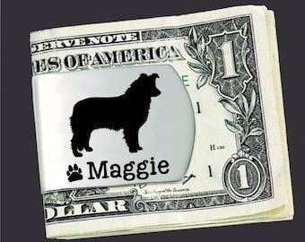 Border Collie Money Clip   Border Collie Hound   Custom Money Clip   Dog Gift   Fathers Day   Gift for Men   Money Clip   Korena Loves