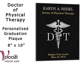 "Doctor of Physical Therapy Graduation Gift Personalized 8"" x 10"" Plaque Physical Therapist Gift"