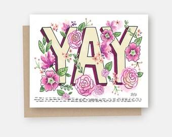 Congrats Card - Congratulations Card - YAY - Yay Card - Congratulations - Celebrate Card - Celebration