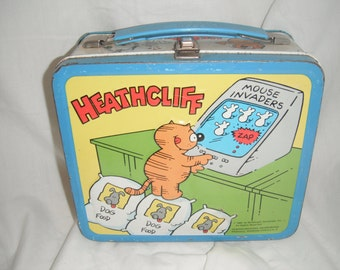 1982 Heathcliff lunchbox with thermos