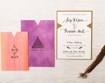 Wilderness wedding invitation samples