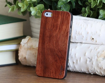 WOOD iPhone 5 Case, Handmade Quality Cover Wooden Rosewood Free Shipping in the US-CBR5