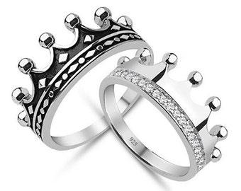 King Queencrown ringcrown ring setgold crown ring925k