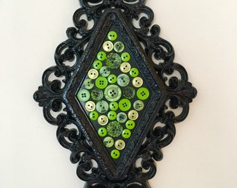 Green Button Wall Hanging Decor