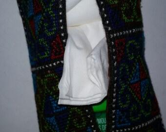 Hmong Textile Kleenex Tissue Holder  1980s