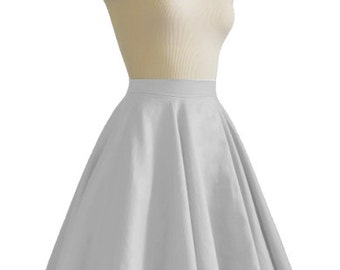 JULIETTE Gray Rockabilly Swing Rock 'n Roll Skirt//Full Circle Black Skirt//Retro Mod 50s style Skirt//Party Skirt XXS-3X