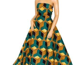 Best Prom African Fabric/ Wedding Fabric/ Supreme Wax Holland /African clothing Ankara fabric/ African Fabric/6 yards WP774