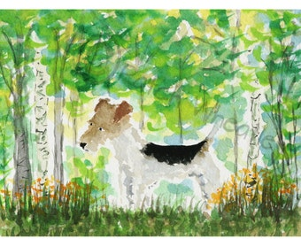 Wire Fox Terrier Dog Art Print #79