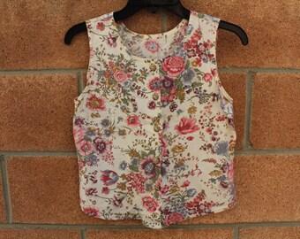Floral tank blouse