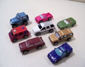 Lot of 8 Vintage Assorted Micro Machines Mini Car Vehicles, Galoob 1980'S, Emergency Van, Convertible