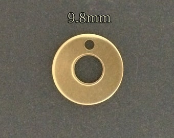 10pcs - Gold Filled Circle Washer Disc - thiny gold Circle Round Disc Blank Washer - goldfill Blank Disc for Hand Stamping Jewelry