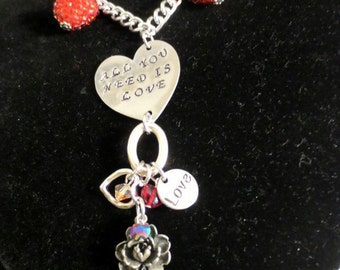 """Beatles """"All You Need Is Love"""" necklace"""