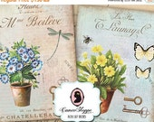 75% OFF SALE SHABBY Spring Time Digital Collage Sheet Aceo Shabby chic Vintage Large images Scrapbooking