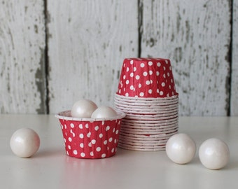 CANDY CUPS - Red with White Dots - Set of 20 : The Paper Doll