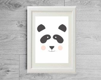 Panda print, Panda poster, Panda wall art, Panda illustration, Panda decor, Nursery panda, Panda nursery decor, Panda kids room, Panda kids