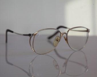 Vintage COLANI DESIGN OPTOS Eyewear, Gold Frame, Sparkling Pink, Rx-Able Prescription Lenses. Very Rare. Made in Japan