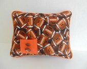 Sports Tooth Fairy Pillow,   Football Pillow, Personalized Pillow , Boys Brown Pillow