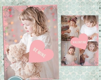 ON SALE INSTANT Download - Valentine Card Template, Photo Card Template