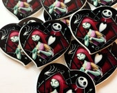 Nightmare before Christmas Xmas cabochon- flat back -Planar resin- Hairbow center   ** Two sizes to choose