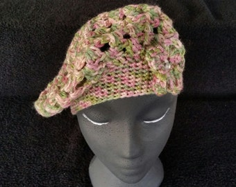 Rose Garden Beret with Small Flower accent