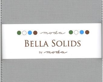 Bella Solids Silver Charm Pack, Set of 42 5-inch Precut Cotton Fabric Squares (9900PP-183)