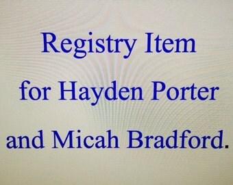 Registry Item for Hayden Porter and Micah Bradford Honey Pot