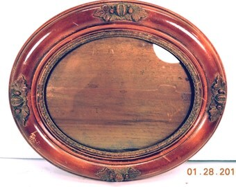 Oval Picture Frame with Glass Antique Victorian Picture Frame