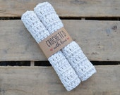 Vanilla Bean Crochet Dish Cloths (set of 2)