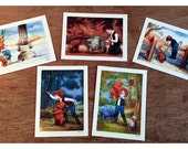 """Signed Giclee Mini Print """"Wookiee the Chew"""" SET (5 prints) by James Hance"""