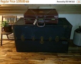 Steamer Trunk, Antique, 1800s trunk, Vintage Wardrobe, Travel Chest, Case, RARE, Murphy Trunk, Vintage luggage, antique wardrobe