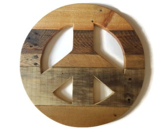 Rustic Home Decor, reclaimed wood, peace sign, wood peace sign, hippie peace sign, pallet wood peace sign, large peace sign