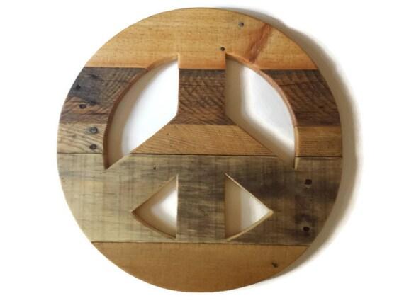 Rustic Home Decor Reclaimed Wood Peace Sign Wood Peace