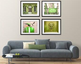 Any FOUR Prints - Save 30% Set of four photographs Art prints Louvre Notre Dame Eiffel tower Versailles Fine art photography Paris decor