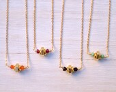 Bridesmaid Set - Wonderful Works Dainty Necklace - Hex Nut Necklace - Layering Necklace