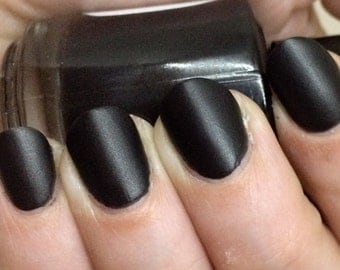 I Am the Bat Nail Polish - matte leather finish black