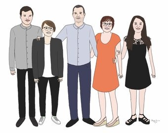 Portrait of family (digital version) 6 people max