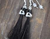 Celtic Horse Hair Earrings| Horse Hair Jewelry| Horse Lover Gifts Under 50| Custom Equestrian Earrings| Equestrian Style| Tassel Earrings