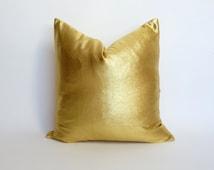 gold pillow case // gold metallic pillow // metallic gold cushion // gold metallic // gold wedding decor