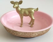 Two Toned Glitter Animal magnet bowl! Made to order - Free shipping!
