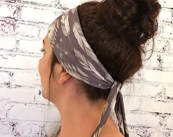 Tie-Back Headband - Native Roots - Brown - Boho Headband - Yoga Headband - Eco Friendly