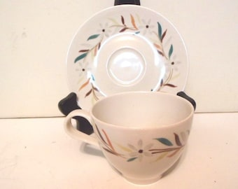 Mint Red Wing Daisy Chain Cup and Saucer