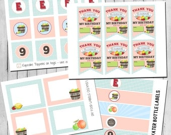 Farmers Market Signs | Cupcake Toppers | Water Bottle Labels |Thank You Tags | Food Labels